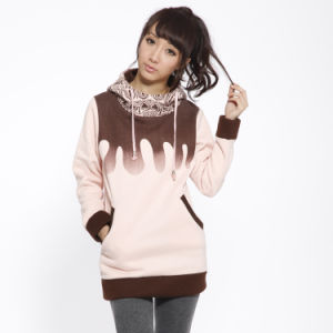Pullover Custom Plain Cotton Tall Hoodies Women Clothes pictures & photos