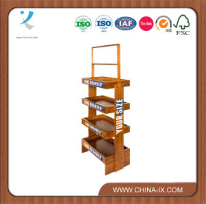 Customized 4 Layers Wood Display Rack Branded Pop Displays pictures & photos