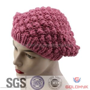 Acrylic Knitted Beret Hat pictures & photos