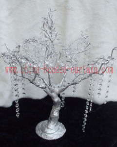 Acrylic Wedding Manzanita Wedding Branch Tree Garland with Hanging Beaded Strands Table Centerpiece