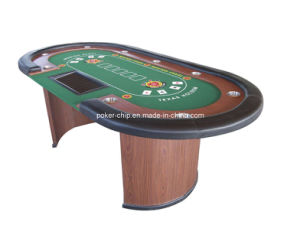 China 10 person luxury poker table with wooden leg sy t04 for 10 person poker table top
