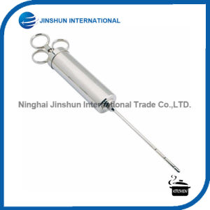 Stainless Steel Seasoning Meat Marinade Injector with 2 Needles pictures & photos