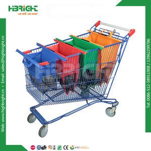 Wholesale Nonwovens Supermarket Reusable Foldable Folding Shopping Cart Trolley Bag pictures & photos