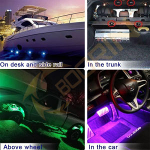 LED Rock Light Smartphone APP, Bluetooth Control 4PCS 6PCS 8PCS 12PCS in One Kit for Cars Boat pictures & photos