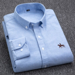 Men Dress Long-Sleeved Shirt 100% Cotton Embroidery Slim Fit pictures & photos