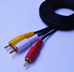 Cheap 3RCA Cable 2meter for Auido and Video pictures & photos