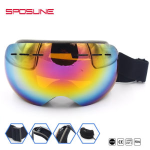 Women Snow Ski Skiing Snowboard Goggles Glasses Eyewear Double Anti-Fog Lens pictures & photos