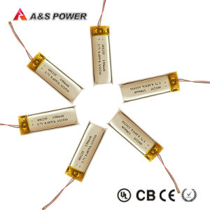 Rechargeable 401235 Li-ion Battery 3.7V 130mAh for Bluetooth Headphone pictures & photos