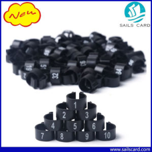 Laser Number Printed Plastic Clip Rings pictures & photos