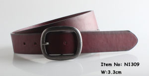 2018 Fashion Men PU Leather Belt (N1309) pictures & photos