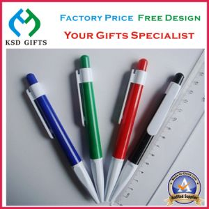 Customized White Plastic Ball Poin Pens pictures & photos