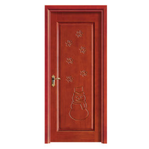 Interior Fire-Resistant Single Swing Solid Wood Door pictures & photos