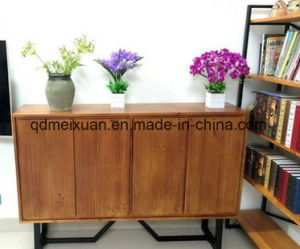 Shelf American Country Wrought Iron Solid Wood Edge Ark Shelf Storage Dining Room (M-X3496) pictures & photos