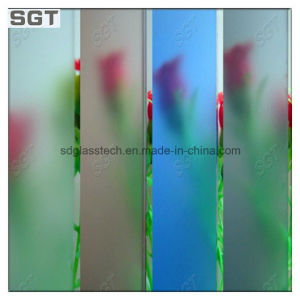 10mm Acid Etched/Frosted Patterned Glass for Kitchen Paitition pictures & photos