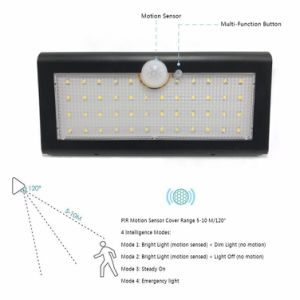 800lm 4 in 1 Modes 46 LED Solar Motion Sensor Light Waterproof Solar Wall Light for Garden 4 Working Modes pictures & photos