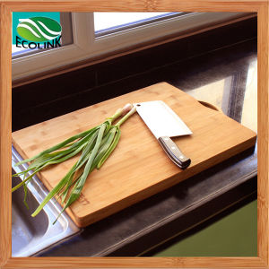 Anti-Bacterial Thick Bamboo Cutting Board pictures & photos