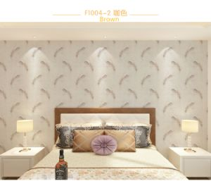 Seamless Country Classic Feather Embossing Wallpaper Fabric Bedroom Livingroom pictures & photos