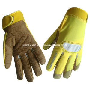 Machine Working Protective Gel Pads Full Finger Glove pictures & photos