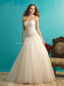 Pretty Princess Ball Gown Embroiday Bead Wedding Bridal Dress pictures & photos