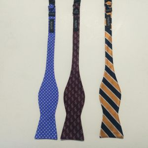 Men′s Fashion Ckeck Design Woven Silk Self Bow Ties pictures & photos