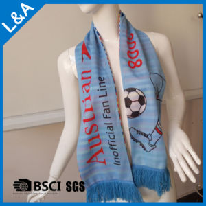 Polyester Blue Football Fans Scarf pictures & photos