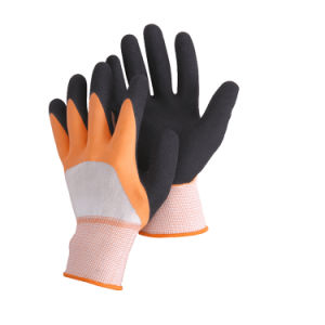 13 Guage Polyester Shell Nitrile 3/4 Coated Inner, Sandy Nitrile Surface Outer Ce En388 N11507