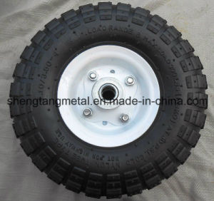10 in. Pneumatic Tire with White Hub pictures & photos