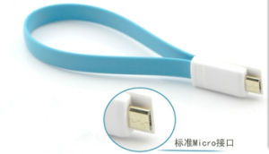 Cosotmized Size Magnets V8 USB Data Cable for Samsung Galaxy Micro USB V8 Magnet Data Cable pictures & photos