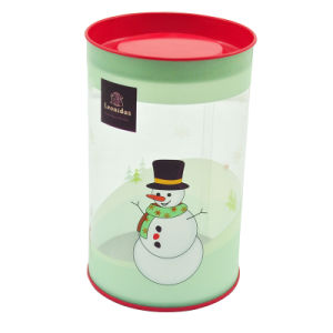 Clear Christmas Chocolate Candy Cookie Tin Pail and Tubes pictures & photos