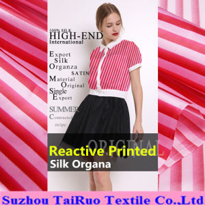 16mm Digital Printed Silk Organza for Garment Fabric pictures & photos