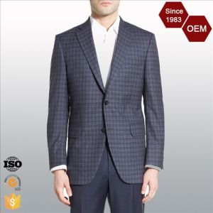 OEM Classic Plaid Fashion Checked Men′s Business Suits pictures & photos