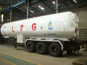 New Design Customized Export Nigeria 59.6m3 LPG Transportation Semi Trailer Truck pictures & photos