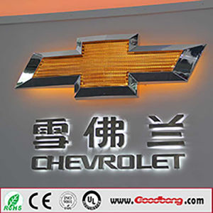 Luxury High Quality America Series Illuminated LED Car Logo Sign pictures & photos