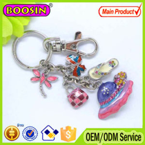 High Quality Metal Enamel Hangbag Handmade Keychain pictures & photos