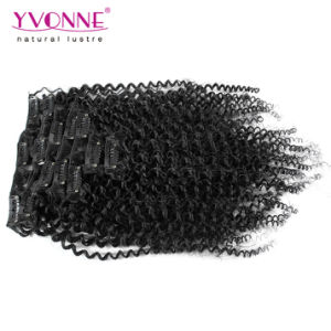 Brazilian Kinky Curly Clip in Hair Extension pictures & photos