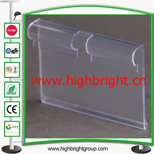 Price Sign Holder/PVC Price Tag Holder for Gondola Shelf pictures & photos