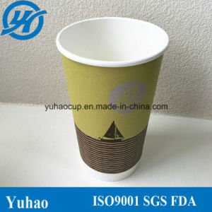 Disposable Custom Printed Double Wall Paper Cup (YHC-136) pictures & photos