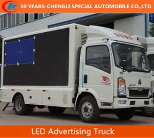 HOWO 4X2 LED Advertising Truck/LED Screen Truck pictures & photos