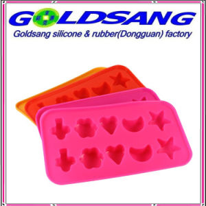 Heart Flower Shape Moon and Star Shape Silicone Ice Tray pictures & photos