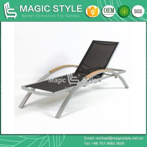 Textile Sunlounger Sling Sunbed Textile Daybed Beach Sunlounger Aluminum Sunbed Pool Sunlounger (Magic Style) pictures & photos