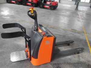 Electric Hand Pallet Truck for Worker Use in Factory and Workshop pictures & photos