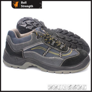 PU Injection Suede Leather Safety Shoe with Steel Toe (SN5398) pictures & photos