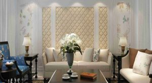 Customized Leather 3D Panel SL-006 for Indoor Wall Decoration pictures & photos