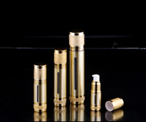 New Alumite Gold Acrylic Airless Bottle for Cosmetic Packaging (PPC-AAB-019) pictures & photos