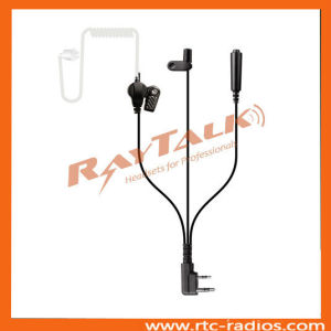 3 Wires Surveillance Earpiece for Kenwood 2 Pin Radios Tk3207/Tk3000 pictures & photos