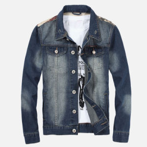 Factory OEM Mens Fashion Jeans Vintage Denim Jacket
