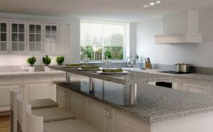 Multi-Function Custom Engineered Quartz Stone Kitchen Countertop pictures & photos
