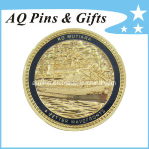 3D Military Coin in Gold with Soft Enamel, Challenge Coin pictures & photos