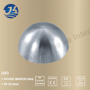High Quality Stainless Steel Hardware Decorative Accessories Round Mirror Nail pictures & photos