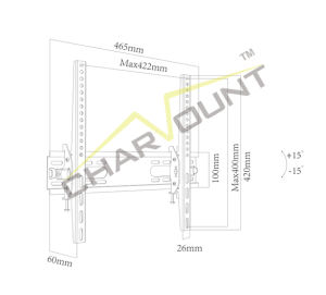 """Sliding TV Wall Mount for 26""""-55"""", Wholesale up and Down TV Mount (CT-PLB-E902) pictures & photos"""
